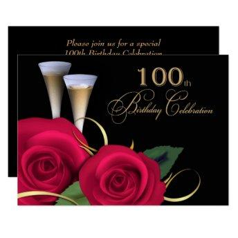 100th Birthday Celebration Custom