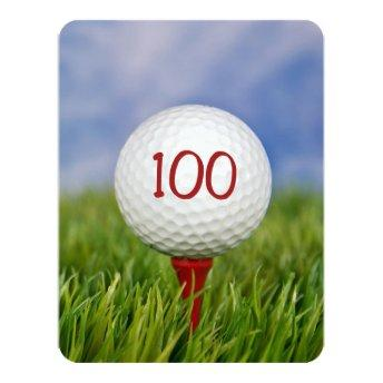 100th Birthday Party Golf theme