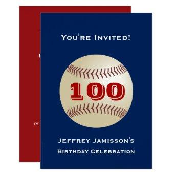 100th Birthday Party  Baseball
