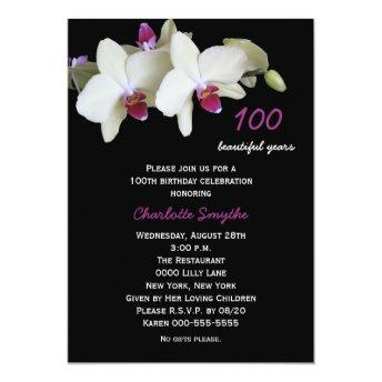 100th Birthday Party  Orchids