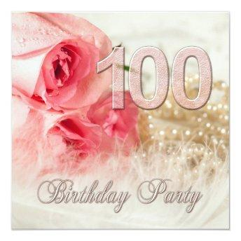 100th Birthday party , roses and pearls