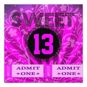 13th Sweet 13 Birthday Party Tickets Fun