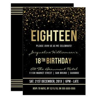 18th Birthday Party   Shimmering Gold Confetti