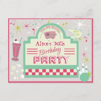 1950s Party Invitation PostInvitation