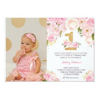 1ST birthday FIRST Beautiful Floral ,