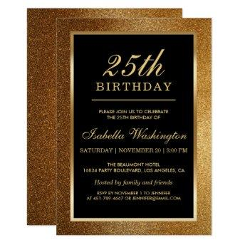 SURPRISE 25th Birthday Modern Pink And White W544A Invitation
