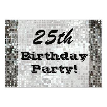 25th Or Any Age Birthday Party Silver