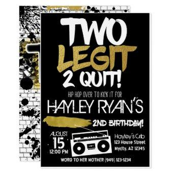 2nd Birthday Two Legit Two Quit Hip Hop