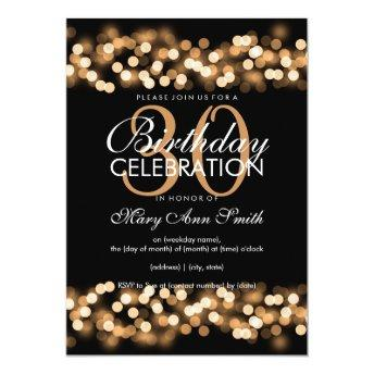 30th Birthday Party Faux Gold Hollywood Glam