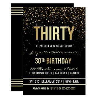 30th Birthday Party | Shimmering Gold Confetti