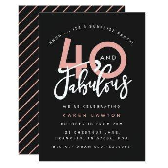 40 and fabulous surprise  party