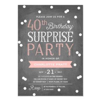 40th Confetti Surprise Party