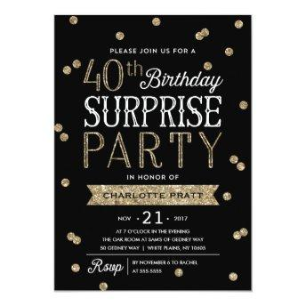 40th Glitter Confetti Surprise Party