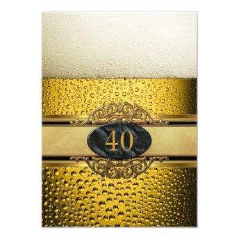 40th Mans Beer Black Gold Birthday Party