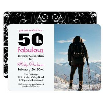 """""""50 & Fabulous"""" Party  with Color Photo"""