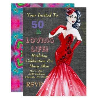 50 & Loving Life Party Invitation