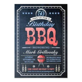 50th Birthday BBQ  | Chalkboard
