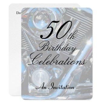 50th Birthday metallic invite