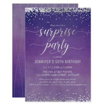 50th Birthday Surprise Party Invitation - Elegant