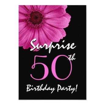 50th Surprise Birthday Single Daisy and Black