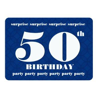 50th SURPRISE Blue and White Birthday Party v003A
