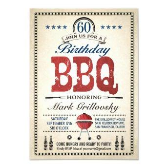60th Birthday BBQ Invitation
