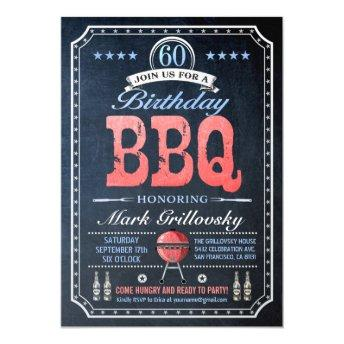 60th Birthday BBQ Invitation | Chalkboard