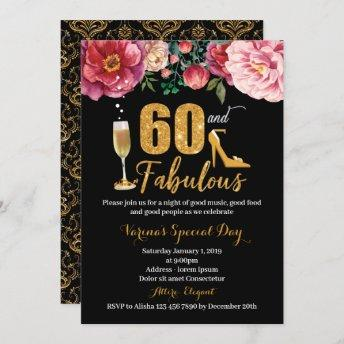 60th Birthday Invitation for Women