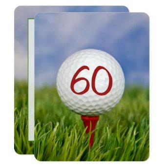 60th Birthday Party Golf theme Invitation
