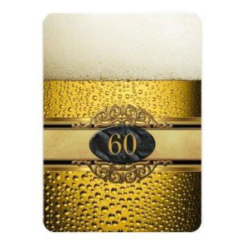 60th Mans Beer Black Gold Birthday Party