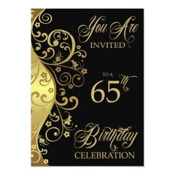 65th Birthday Party Personalized Invitation