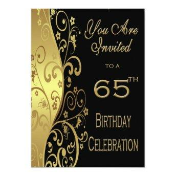 65th Birthday Party Personalized