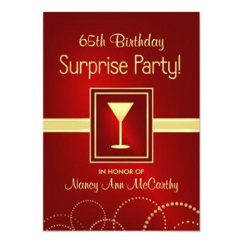 65th Birthday Surprise Party Invitation