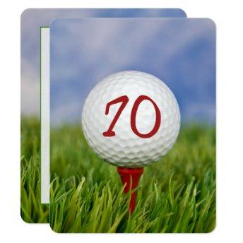 70th Birthday Party Golf theme