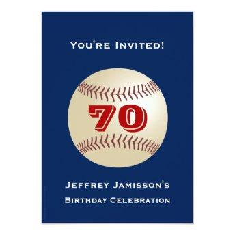 70th Birthday Party  Baseball