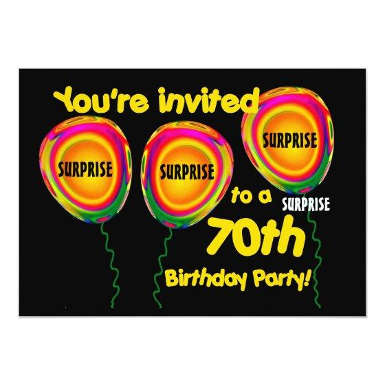 243 70th SURPRISE Birthday Party Invitation Template