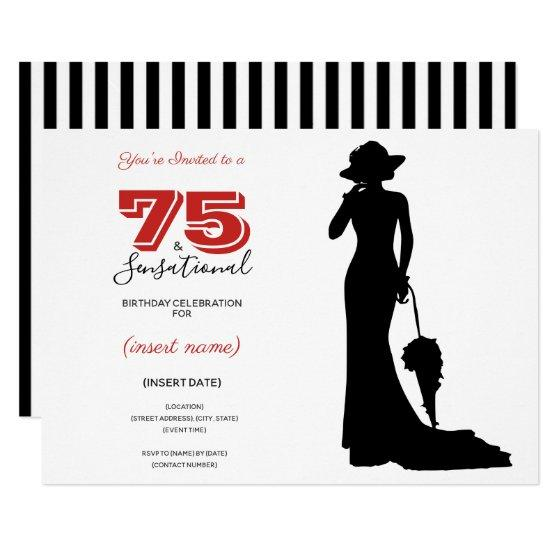 75 SENSATIONAL 75th Birthday Invitation Party Invitations