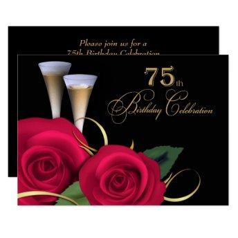 75th Birthday Celebration Custom Invitation