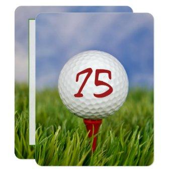 75th Birthday Party Golf theme