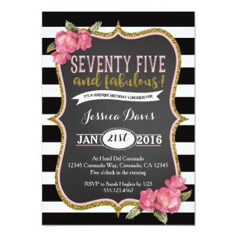 75th Surprise Luncheon Birthday Party Invitation