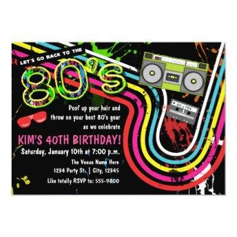 80's Birthday Party Retro Event