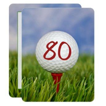 80th Birthday Party Golf theme