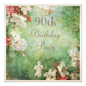 90th Birthday Party Shabby Chic Hibiscus Flowers