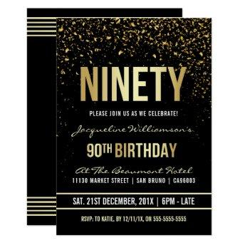 90th Birthday Party | Shimmering Gold Confetti