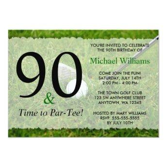 90th Golf Birthday Party Invitation
