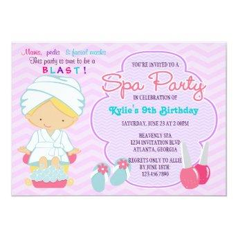 Adorable Pink Purple Spa Pampering Birthday Party