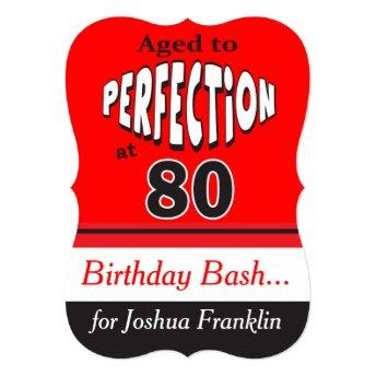 Aged to Perfection at 80 | 80th Birthday