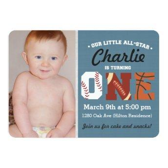 All-Star First Birthday Invitation