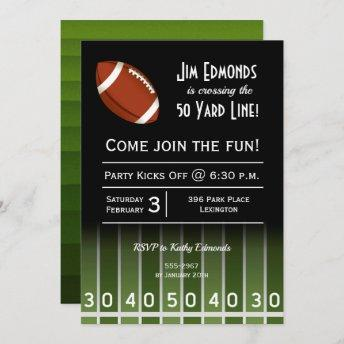 American Football Man Birthday Party Invitation