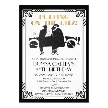 ANY AGE - Birthday Art Deco Gatsby invitation